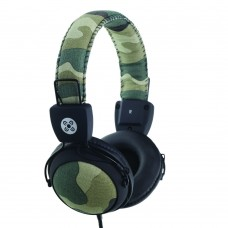 Moki Camo In-Line Mic Green Headphones