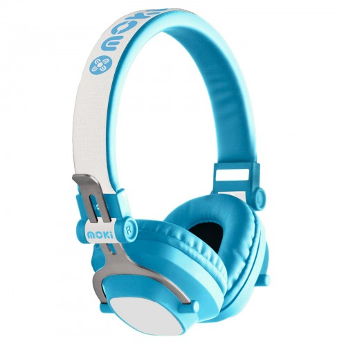 moki exo kids bluetooth headphones blue pink petunias. Black Bedroom Furniture Sets. Home Design Ideas