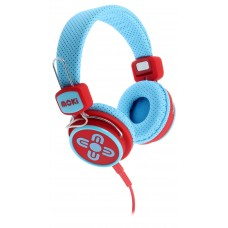 Moki Kid Safe Volume Limited Blue & Red Headphones