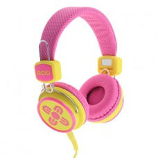 Moki Kid Safe Volume Limited Pink & Yellow Headphones