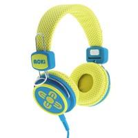 Moki Kid Safe Volume Limited Yellow & Blue Headphones