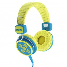 Moki Kid Safe Volume Limited Yellow & Blue Headphones