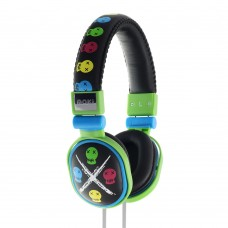 Moki Popper Headphones - Skull Black