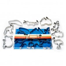 Australiana Cookie Cutter Boxed Set - 8 piece stainless steel