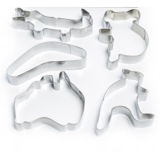 Australiana Cookie Cutter Set - 5 piece stainless steel