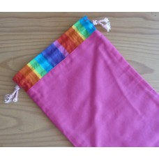 Extra Small Drawstring Bag - Hot Pink - HPS