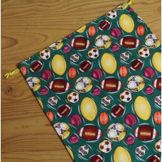 Medium Drawstring Bag - Balls Balls Balls