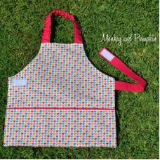 Kids Apron - Coloured Hearts