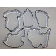 Baby Shower Stainless Steel Cookie Cutter Set - 5 piece