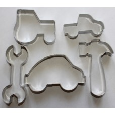 Boys Toys Stainless Steel Cookie Cutter Set - 5 piece