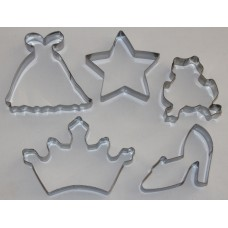 Fairytale Princess Stainless Steel Cookie Cutter Set - 5 piece