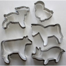 Farmyard Stainless Steel Cookie Cutter Set - 5 Piece