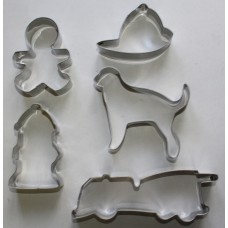 Fireman Stainless Steel Cookie Cutter Set - 5 piece