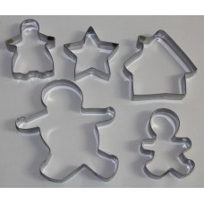 Gingerbread Man Stainless Steel Cookie Cutter Set - 5 piece