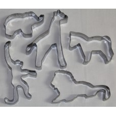 Jungle Safari Zoo Animals Cookie Cutter Set