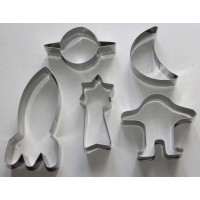Outer Space Stainless Cookie Cutter Set - 5 piece