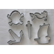Pirate Cookie Cutter Set - 5 piece