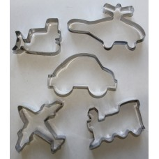 Transport Stainless Steel Cookie Cutter Set - 5 piece