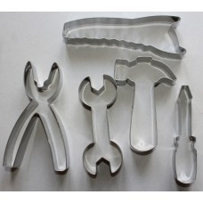 Tool Kit Stainless Steel Cookie Cutter Set - 5 piece