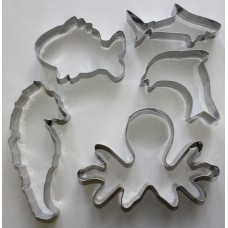 Under The Sea Stainless Steel Cookie Cutter Set - 5 piece