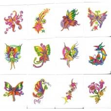 12 Mini Enchanted Temporary Tattoos