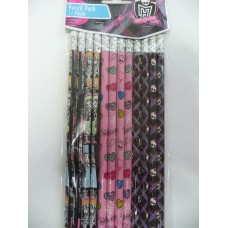 Monster High Pencils - Pack of 12