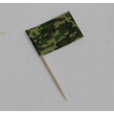 Camo Flag Picks x 50