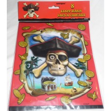 Pirate Bounty Loot Bags - Pack of 8