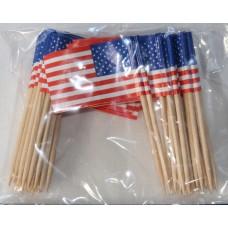 USA Flag Picks x 50