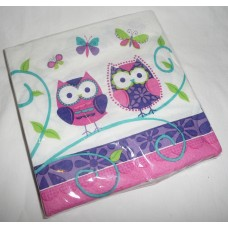 Owl Pal Birthday Lunch Napkins