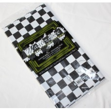 Black and White Checkered Plastic Tablecover