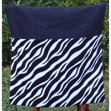 Pink Petunias School Chair Bag - Zebra Print on Black