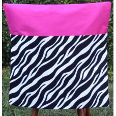 Pink Petunias School Chair Bag - Zebra Print on Hot Pink