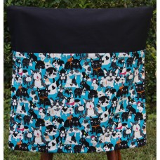 School Chair Bag - Dogs on Black