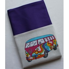 Pink Petunias School Chair Bag - Hippy Van on Purple