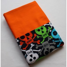 Pink Petunias School Chair Bag - Vibrant Skulls on Orange