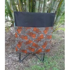 Pink Petunias School Chair Bag - Orange Tigers on Black