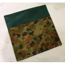 Pink Petunias School Chair Bag - Army Camo on Bottle Green