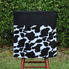 School Chair Bag - Cow Print on Black