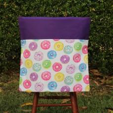 School Chair Bag - Donuts on Purple