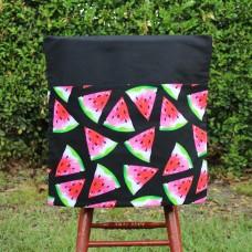 School Chair Bag - Watermelon slices on Black