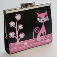ShagWear Coin Purse Diva Kitty on Black