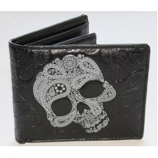 ShagWear Abstract Skull Mens Wallet on Black