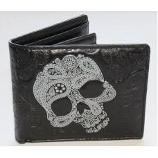 ShagWear Abstract Skull Mens Wallet on Black